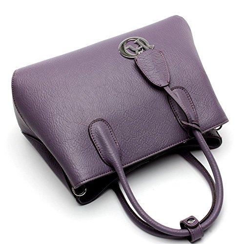 Wild Women's Diagonal Purple Tote Handbag Shoulder Simple Xuanbao Bag Azf6fq