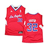 Los Angeles Clippers Blake Griffin # 32 NBA Toddler Little Boys Away Replica Jersey - Red (2T)