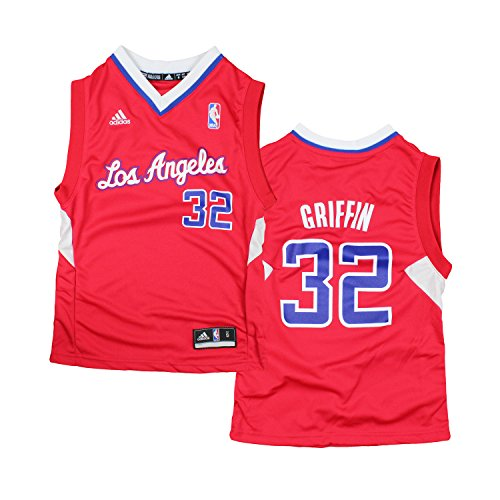 adidas Los Angeles Clippers Blake Griffin # 32 NBA Toddler Little Boys Away Replica Jersey - Red (3T)