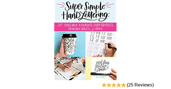 super simple hand lettering 20 traceable alphabets easy projects