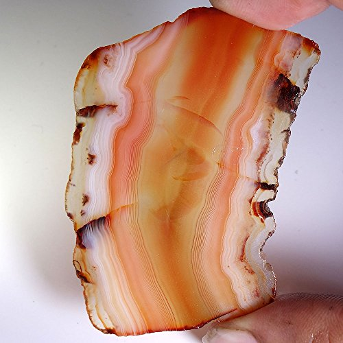 74.50Cts. STUNNING NATURAL BROWN BANDED AGATE ROUGH CABOCHON LOOSE GEMSTONE