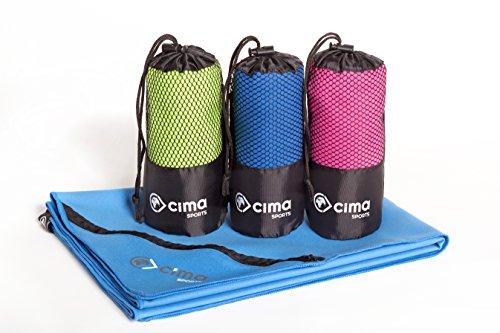 Mikrofaser Handtücher 2er Set (1x 140x70cm, 1x 40x30cm) | 2x Sport-Handtuch für Fitness und Yoga | leicht, kompakt, saugstark
