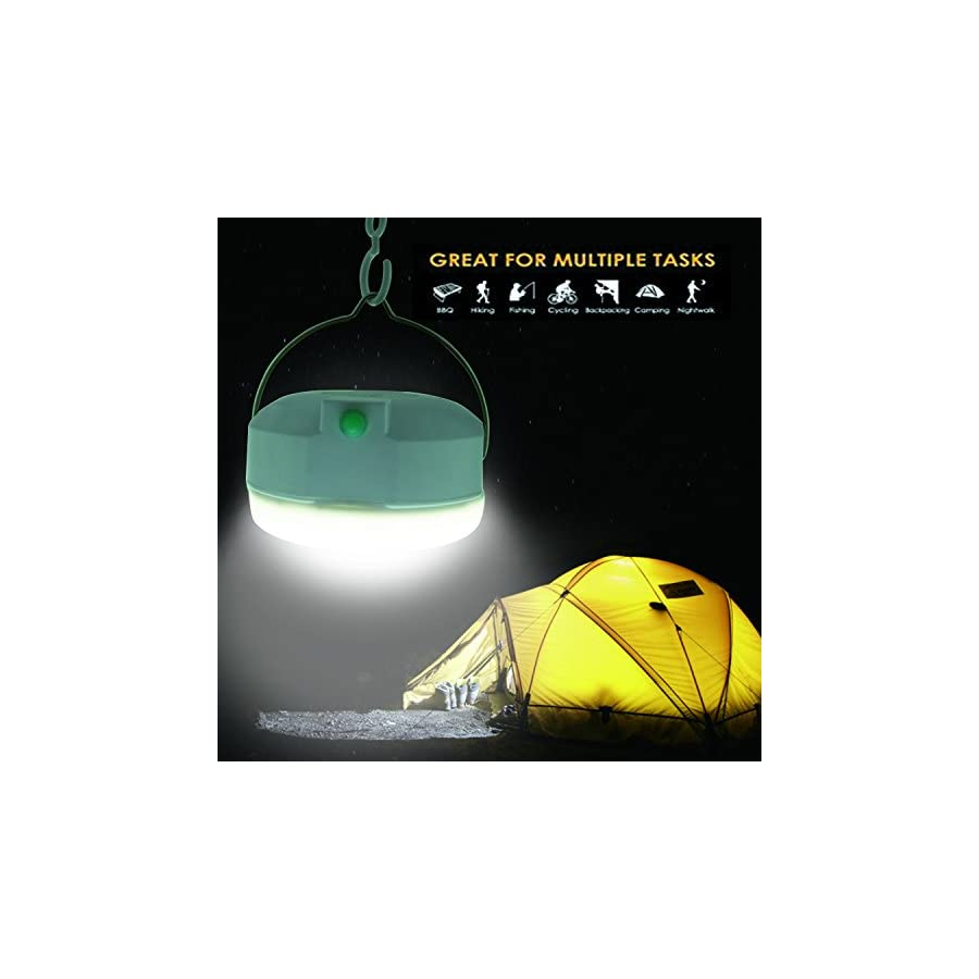 LED Camping Tent Light Lamp Camping Lantern, Portable, Rechargeable, Multi functinal, with hook, Magnetism for Camping, Hiking, Boating, Outages, Emergencies, Outdoors