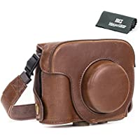 MegaGear Ever Ready Protective Dark Brown Leather Camera Case, Bag for Canon PowerShot G16