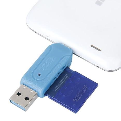 DaoRier 1 pieza Micro USB OTG a USB 2.0 Adaptador SD TF ...