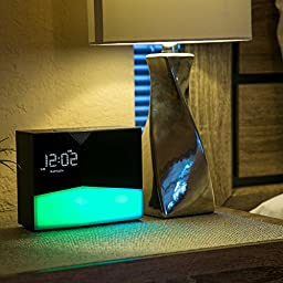WITTI - BEDDI Glow | App Enabled Intelligent Alarm Clock with Wake-up Light, Bluetooth Speaker and USB Charging Station
