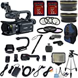 Canon XA30 Professional Camcorder with 10x HD Video Exclusive Celltime Bundle with .43x Wide Angle Lens + 2.2x Telephoto + LED Light + Tripod + 2pcs 32GB High Speed Memory Cards + 22pc Accessory Kit
