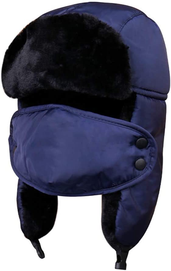 H2okp-009 Unisex Invierno Cálido Earflap Hat Mascarilla Protección De La Cubierta Gorra De Ciclismo A Prueba De Viento Simple Casual