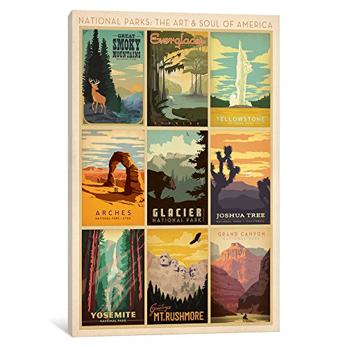 iCanvasART ADG79 National Park Collection by Anderson Design Group Canvas Print, 26-Inch by 18-Inch, 0.75-Inch Deep