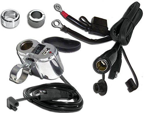 - EKLIPES EK1-110B Cobra Black Ultimate Motorcycle USB Charging System