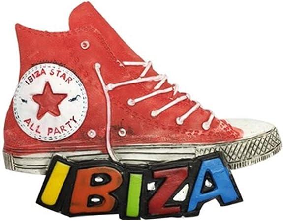 Fcheng Zapatos de Lona Estilo Ibiza España Imanes de Nevera City Travel Souvenir para artesanías de Resina 3D Regalos Decoración de Cocina Accesorios Colección magnética: Amazon.es: Hogar