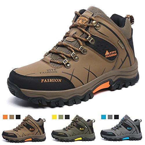無実慣性かりてトレッキングシューズ ハイカットメンズ 登山靴 透湿防水 ノンスリップ アウトドア スニーカー キャンプ ハイキングシューズ レディース ライト ウォーキング 大きいサイズ 3E 男女兼用 耐久性のある