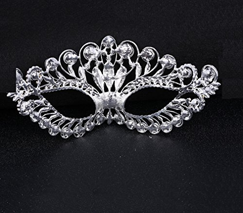 New Creative Handmade Alloy Mysterious Diamond Crown Mask for Masquerade Dancing Party Bar Halloween Masks Luxury Sexy Pretty Charming Unique (Cummerbund Costume)