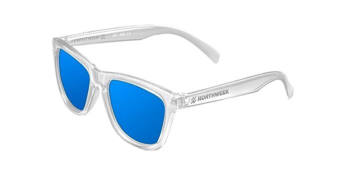 NORTHWEEK Kids Seabright - Gafas de Sol para Niño y Niña, Polarizadas, Translúcido/Azul