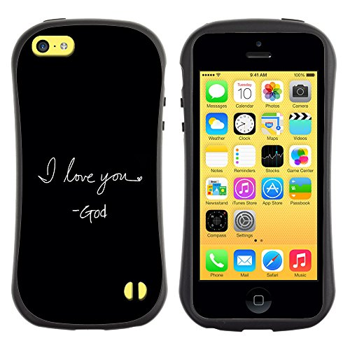 DREAMCASE Citation de Bible Silicone et Rigide Coque Protection Image Etui solide Housse T¨¦l¨¦phone Case Pour APPLE IPHONE 5C - I LOVE YOU - GOD