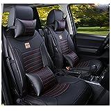Amooca PU Leather Car Seat Cover Cushions Front Rear Full Set For Toyota Camry RAV4 Honda CRV 10 pcs