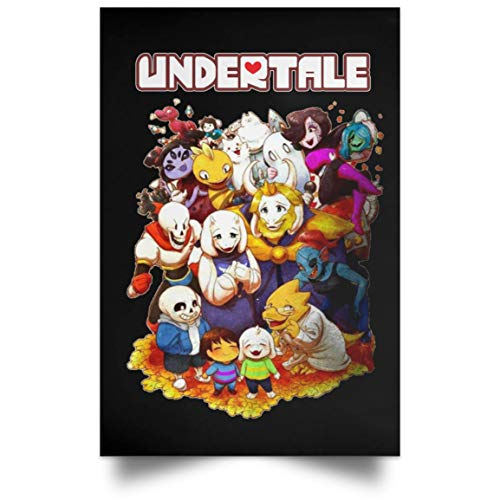 Undertale Youth Short Sleeve Casual Art Poster Print Artsy Kitchen Home Decors Tops for Boy Girl (Poster ; Black; 24