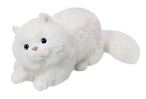 Amazon.com: Cat White 12 inches, 30cm, Plush Toy, Soft Toy ...
