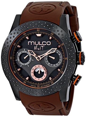 MULCO Unisex MW5-1962-035 Analog Display Swiss Quartz Brown Watch