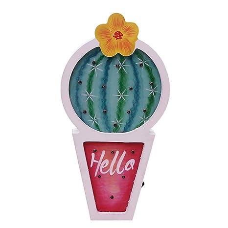JYSPT Cactus LED Lámparas de Noche Lámparas de Mesa de luz ...