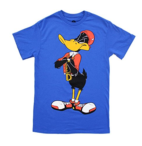 Bugs Bunny And Daffy Duck Costumes (Looney Tunes Hip Daffy Duck Front and Back Adult T-Shirt (Adult X-Large))