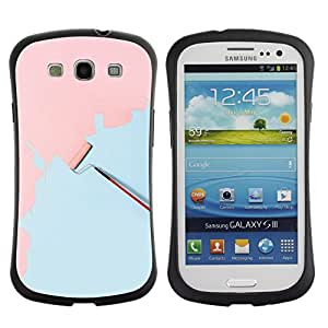 Suave TPU GEL Carcasa Funda Silicona Blando Estuche Caso de protección (para) Samsung Galaxy S3 I9300 / CECELL Phone case / / Wall Painting Art Pink Light Blue Scroll /