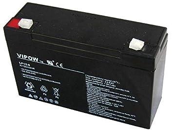 Vipow - Batería de Movilidad 6V 12Ah Bateria de Ciclo Profundo de Gel. Pila Recargable. Acumulador: Amazon.es: Electrónica