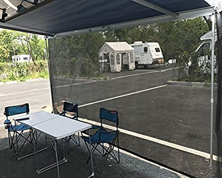 Tentproinc RV Awning Shade Screen 7 X 15 3 Black Sunshade Camping Trailer UV Sun Blocker Complete Kits 3 Years Limited Warranty