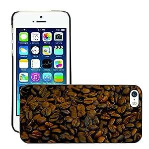 Print Motif Coque de protection Case Cover // M00245593 Granos de café de Brown del café // Apple iPhone 5 5S 5G