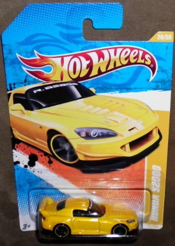 2011 HOT WHEELS 2011 NEW MODELS 20/244 YELLOW HONDA S2000 20/50 (Honda S2000 Model compare prices)