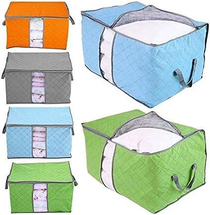 Foldable Storage Bag Clothes Blanket Quilt Closet Sweater Organizer Box Pouches