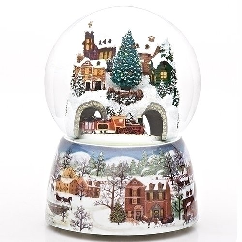 Train Tunnel Winter Scene 120MM Revolving Musical