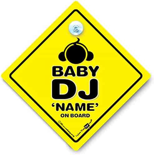 Grandson Brown Bear On Board PERSONALISED Baby On Board Sign Baby Car Sign