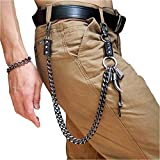 Wallet Chain For Men Fashion Hip Hop Punk Cool Ox horn Jeans Chain,Retro Anti Theft Key Chain Pant Chain