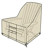 Heavy Duty Weather Resistant Deluxe Outdoor Adirondack Chair Cover, 2 Ply Polyester, 40 L x 33 W x 36 H - Sand