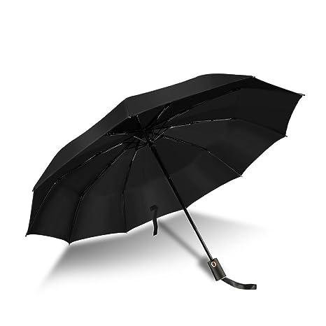 ce5daf599d Ombrello Pieghevole Antivento Automatico Compatto Ombrello da Viaggio  Antivento Apertura e Chiusura Automatica a Pulsante per