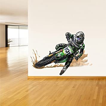 Amazon.com: Full Color Wall Decal Mural Sticker Decor Art Dirt Bike Moto  Motorcycle Motocross Biker Dirty (Col297): Home U0026 Kitchen Part 4
