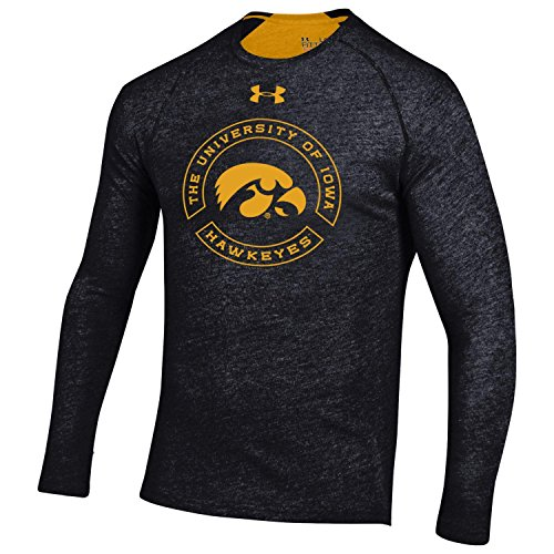 Under Armour Men's Charged Cotton Long Sleeve Tee, Small, Black