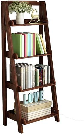 Madera sólida Repisa escalera Estantería de bambú,Espesado Asesinato Montaje fácil Esquina Soporte de la flor Soporte de exhibición de la biblioteca Pie de Para hogar u oficina -F 60x30x140cm(24x12x55inch): Amazon.es: Hogar