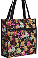 World Traveler Black Owl Travel Tote Bag 12-inch