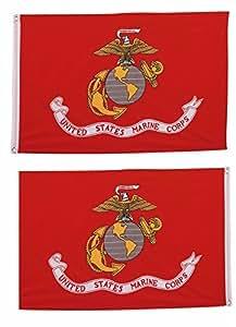 2x 3Marines EGA infantería de marina 2Faced 2capas Super poliéster nylon bandera 2x 3m (60x 90cm) casa Banner ojales doble costura resistente a la decoloración Premium calidad