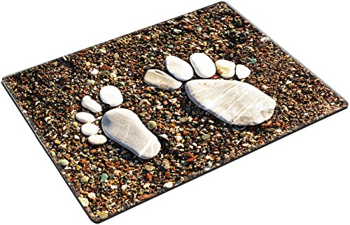 MSD Place Mat Non-Slip Natural Rubber Desk Pads Design 20856046 Stone Foots on The Beach Spa or Vocation Concept Adriatic - Foot Pad Spa