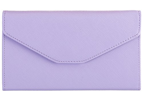 MODARANI Multi-purpose PU Leather Travel Passort Wallet Long Clutch Bag Passport Holders Light ()