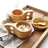 Mochiglory Wooden Cup Camping Cup Nordic Style