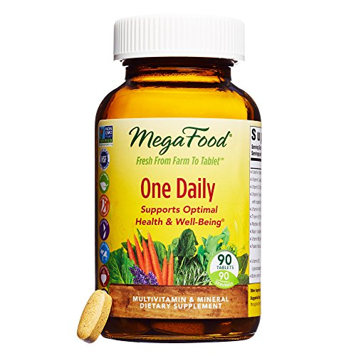 - MegaFood - One Daily, Multivitamin Support for Immune and Nervous System Health, Energy Production, and Mood Balance with Folate and B Vitamins, Vegetarian, Gluten-Free, Non-GMO, 90 Tablets (FFP)