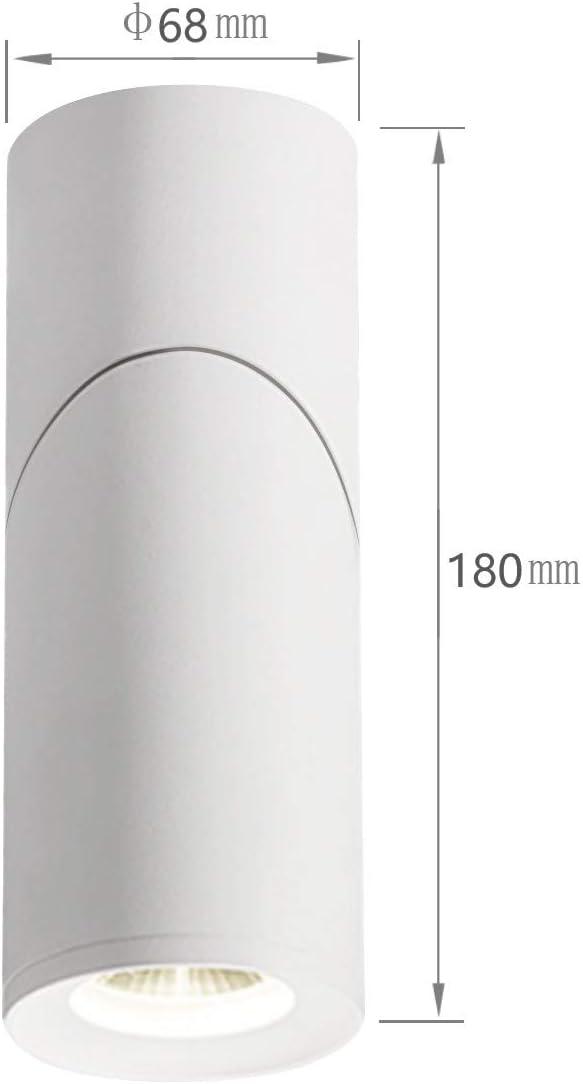 Budbuddy 12W LED Aufbauleuchte LED Deckeleuchte Schwenkbar Downlight Deckenlampe Deckenspot LED Deckenstrahler Drehbar//Benutzt zur individuellen und Gesch/äft Innen-Beleuchtung