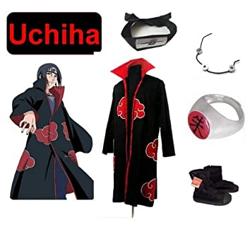 Sunkee Naruto Cosplay Akatsuk Ninja Uchiha Itachi Traje ...