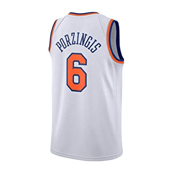 BUY-TO Camiseta Knicks No. 6 17-18 Porzingis. Pantalones Cortos de