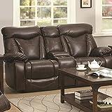 Coaster 601712P Home Furnishings Power Love Seat, Dark Brown