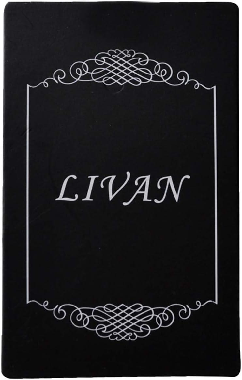 11,5 x 7,5 x 3 cm Homme Femme Noir LIVAN Porte Monnaie en Cuir Vachette /épais Porte Cartes Double Fermeture /éclaire Bouton Anneau /à cl/é int/égr/é
